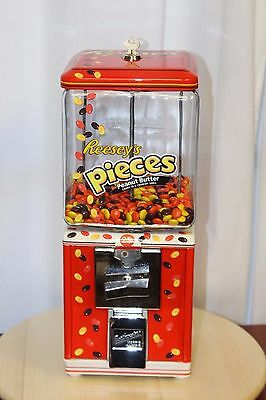Vintage 1950s NORTHWESTERN Reese's Pieces Themed Gumball Candy Machine 25 Cent