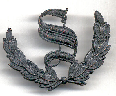 """Subdued COMBAT-Worn Metal Army """"SCOUT"""" Prize Badge """"S"""" in Wreath"""