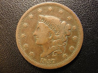 1837 liberty head large cent, head of 1838