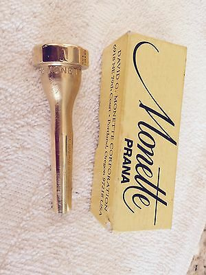 Monette Prana BL4S6 82 Gold trumpet mouthpiece in the box nice!!