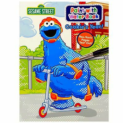 Paint with Water Book SESAME STREET Elmo Cookie Monster Coloring