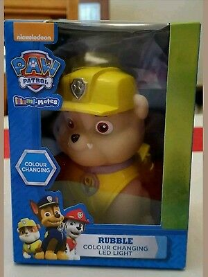 Paw patrol colour changing childrens LED light. New in box