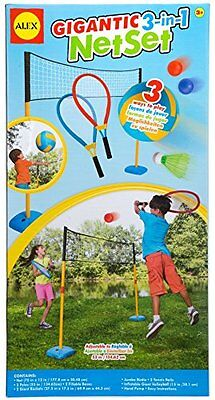 Alex Toys 3-in-1 Kid's Gigantic Net Set for Volleyball/ Badminton and