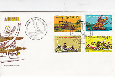 Papua New Guinea 1975 Traditional Boats FDC Unadressed VGC