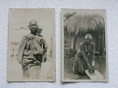 POSTCARDS (x2) : Vintage : of African Interest
