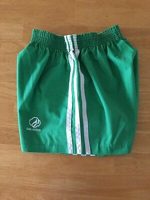 Vintage Girl Scouts Shorts Official Size M (10-12) Made USA 1980's