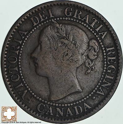 1859 Canada 1 Cent - Double Punched 9 Type I *5386