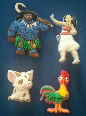 4 Pc Moana Maui Heihe Pua Clog Crocs Shoe Charms Jibbitz Cake Party Favors