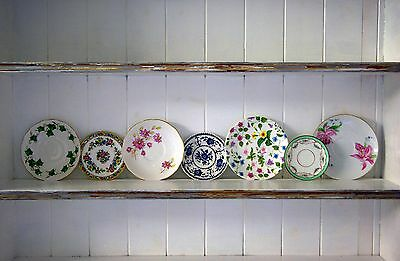 7pc Floral / Garden Design Vintage China Mismatched Saucers