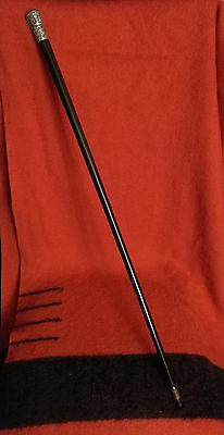 Walking Stick or Cane, Indian or Burmese Sliver Colonial India circa 1850 or ear