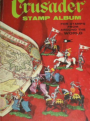 Vintage: Crusader Stamp Album for Stamps From Around the World. 1967 with Stamps