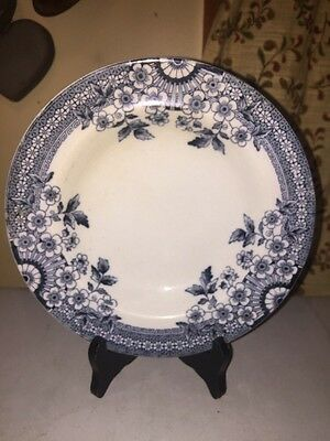 Vintage Blue/white Transferware, A & F Co, FOLEY, Dinner Plate Wileman AS IS