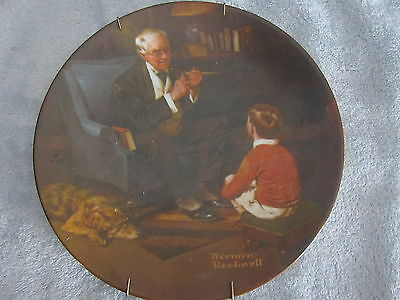 """Norman Rockwell Heritage Collection """"The Tycoon"""" Knowles Collector's Plate"""