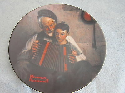 """Knowles Norman Rockwell Collector Plate """"The Music Maker"""" COA 1981"""