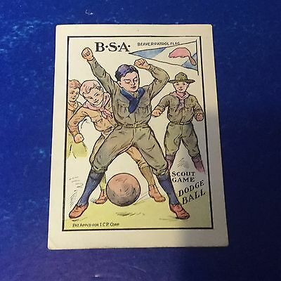 Boy Scout Invisible Color Picture Card Scout Game Dodge Ball Betsy Ross Bread