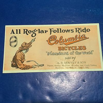 Boy Scout Add Card Columbia Bicycles