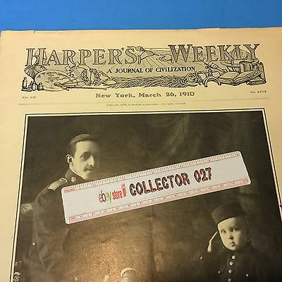 Boy Scout 1910 Harpers Weekly With Baden Powell Boy Scouts Article