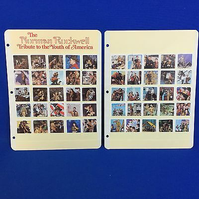 Boy Scout Norman Rockwell Trubute Stamps Calhoun's Collectors Society 50 Stamps