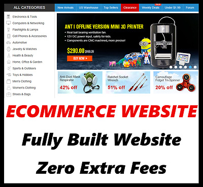 Website - Ecommerce - Online Business - Internet Based - For Sale - Fully Built