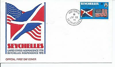 SEYCHELLES Sc# 351 FDC - SEYCHELLES INDEPENDENCE 1976 JY 12,76