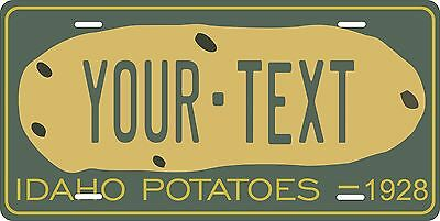 Idaho 1928 Potato Personalized License Plate Car Motorcycle Bike Fridge Magnet