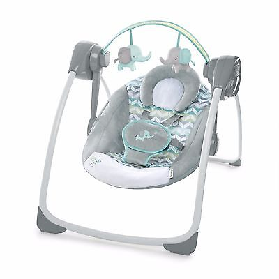 Ingenuity Comfort 2 Go Portable Swing Jungle Journey Baby Timer Seat Recline