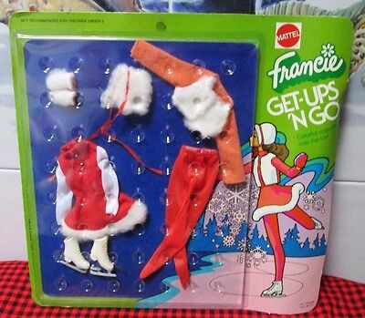 New+Sealed~1973 Francie Get-Ups`n Go~Skating Costume~Cuts The Ice~7845~Nrfp~Mint