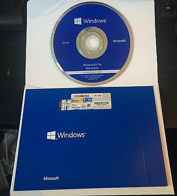 Windows 8.1  Professional 64bit DSP OEI DVD Pack + OEM Sticker Sealed Pack