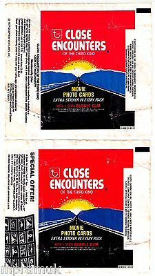 Topps Close Encounters 2 wrapper lot 1978 2 ad variants