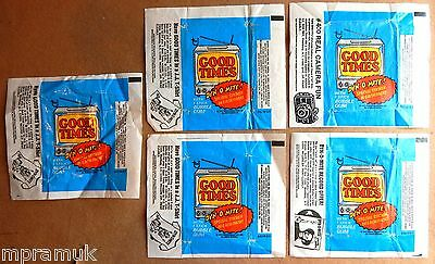 Topps 5 wrapper lot: Good Times 1975