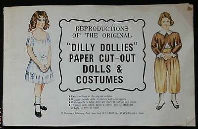 """Reprod. The Original """"Dilly Dollies"""" Paper Cut-Out Dolls & Costumes Uncut"""