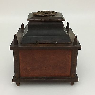Antique New England Shaker Sewing Spool Thread Caddy Pincushion 1800's
