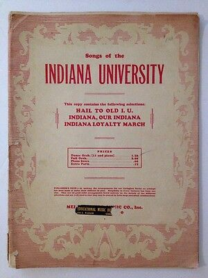 Vintage Antique Songs Of The Indiana University Sheet Music Book