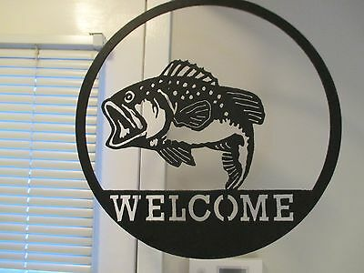 Large Antique Hanging Fish Sign That Is  Laser Cut Steel
