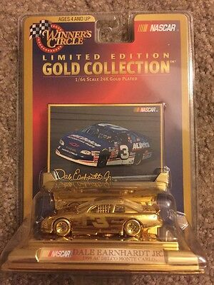 DALE EARNHARDT Jr #3 24K Gold Collection 1:64 Scale Winners Circle NASCAR-NIB