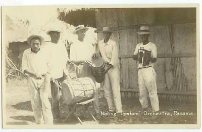 c1930s Panama Native Tomtom Orchestra Real Photo