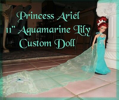 "DISNEY STORE Little Mermaid PRINCESS ARIEL March Aquamarine Birthstone 11"" DOLL"