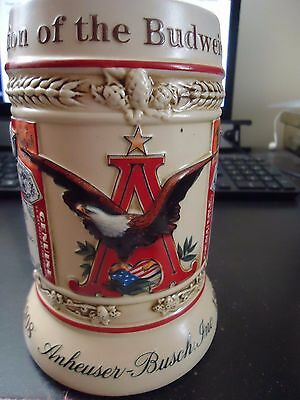 Anheuser-Busch Beer Stein Evolution of the Bud Label 1st of Series #01652