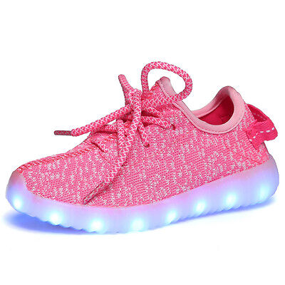 New Children  Boys Girls Luminous Sneakers Running shoes Led Light Up Shoes