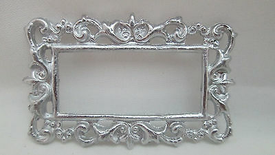 Dollhouse Miniature Unfinished Metal Victorian Mirror Frame #2