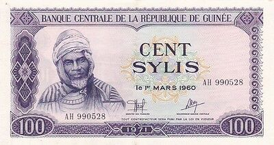 1971 Guinea 100 Sylis Note, Pick 19