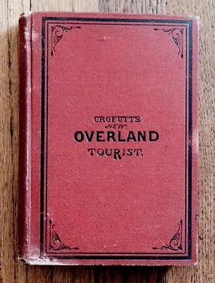 Rare 1879 Old West Railroad Stage Overland Tourist Guide Western Pioneer