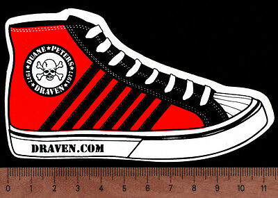 DUANE PETERS DRAVEN SHOES Sticker SKATOPIA U.S. Bombs Pocket Pistols Independent