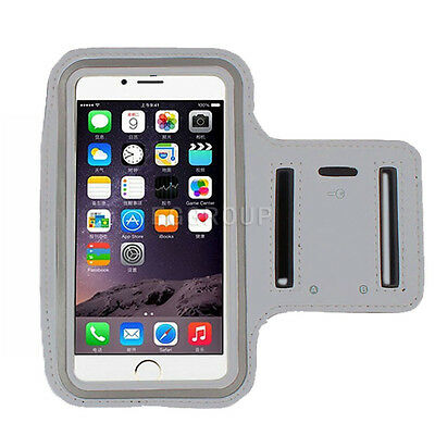 Gray Sports Running Jogging Gym Armband Arm Band Cover Case For iPhone 6 Plus