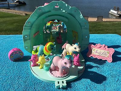 Vintage MLP G-1 My Little Pony ~ BABY BONNET SCHOOL OF DANCE PLAYSET & EXTRAS!
