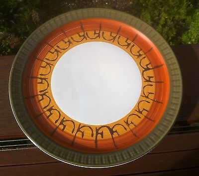 Vintage Casual Ceram Stoneware Plate 27cm.Galaxy.Design 8067.Made in Japan.1970s