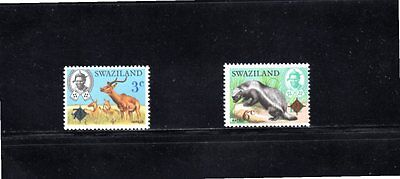Swaziland 1975 Surcharge set of 2 SG 230/1 MUH