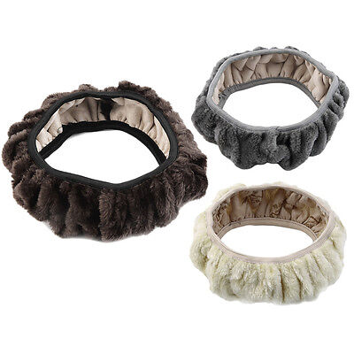 Charming Warm Winter Short Wool Plush Steering Wheel Cover for Car AccessoriesRB