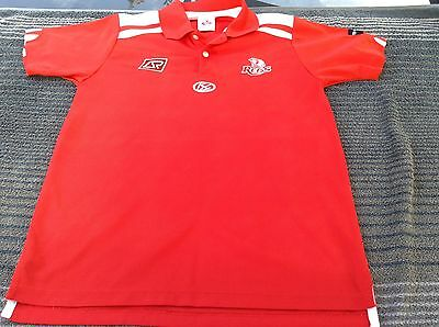 QUEENSLAND REDS  S Jersey Polo Shirt Super Rugby Union Football ISC AUSTRALIA