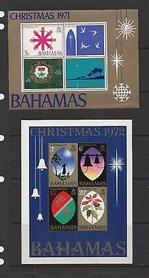 BAHAMAS. Mini sheets x 4. SG MS381, MS391, MS492, MS497. Mint Never Hinged.